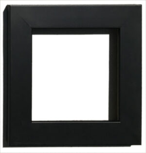 "Gallery Black Wide: Width: 3/4""; Height: 1 ¼;"